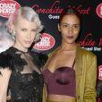 Aria Crescendo et Shy'm à la première du show de Conchita Wurst au Crazy Horse à Paris le 9 novembre 2014.