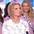 Sylvie Tellier, Flora Coquerel et les 33 Miss Régionales de Miss France 2015 sur le plateau du JT de TF1, le 13 novembre 2014.