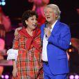 Exclusif - Patrick Sébastien et Roselyne Bachelot à la soirée Ze Fiesta à l'Olympia, pour les 40 ans de carrière de Patrick Sébastien, le vendredi 14 novembre 2014.
