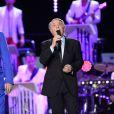 Exclusif - Salvatore Adamo à la soirée Ze Fiesta à l'Olympia, pour les 40 ans de carrière de Patrick Sébastien, le vendredi 14 novembre 2014.