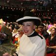 Exclusif - Geneviève de Fontenay à la soirée Ze Fiesta à l'Olympia, pour les 40 ans de carrière de Patrick Sébastien, le vendredi 14 novembre 2014.