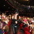 Exclusif - Nana, la femme de Patrick Sébastien, à la soirée Ze Fiesta à l'Olympia, pour les 40 ans de carrière de Patrick Sébastien, le vendredi 14 novembre 2014.