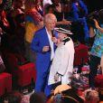 Exclusif Patrick Sébastien et Geneviève de Fontenay à la soirée Ze Fiesta à l'Olympia, pour les 40 ans de carrière de Patrick Sébastien, le vendredi 14 novembre 2014.
