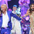 Exclusif - Cyril Hanouna, habillé en Conchita Wurst, participe à la soirée Ze Fiesta avec Patrick Sébastien pour ses 40 ans de scène, le vendredi 14 novembre 2014 à l'Olympia.