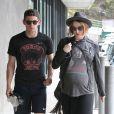 Exclusif - Evan Rachel Wood, enceinte, et Jamie Bell à Malibu, le 20 juillet 2013