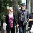 Marilyn Manson et Evan Rachel Wood se rendent sur le tournage de la série Mildred Pierce en mai 2010