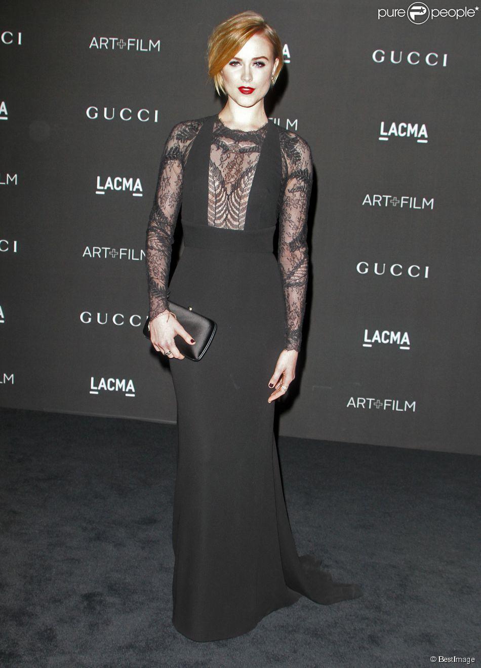 """Evan Rachel Wood - Soirée """"LACMA Art + Film Gala"""" à Los Angeles le 1er novembre 2014"""