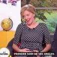 """Maya Lauqué annonce sa grossesse dans """"La Quotidienne"""" sur France 5 le 17 novembre 2014"""