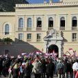 La famille princière de Monaco est apparue au balcon du palais princier à midi le 19 novembre 2014 lors de la Fête nationale monégasque.
