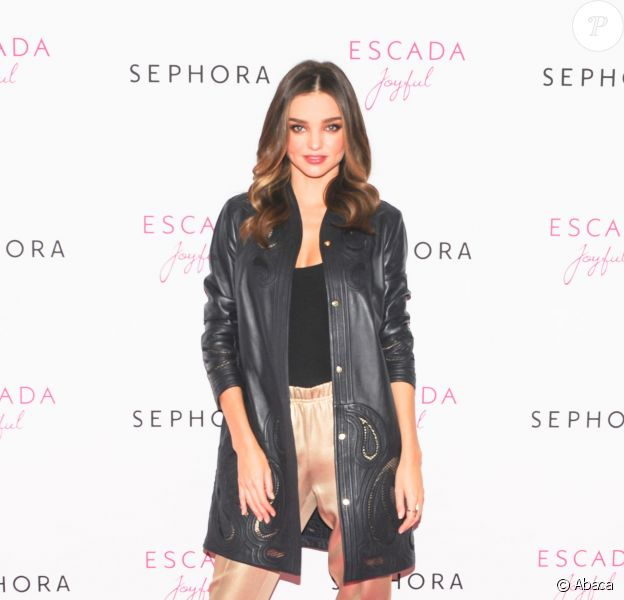 Miranda Kerr célèbre le lancement du parfum Escada Joyful au magasin Sephora Union Square. New York, le 20 novembre 2014.