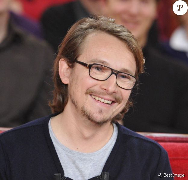 Lorànt Deutsch lors de l'enregistrement de l'émission Vivement dimanche sur France 2 diffusée le 10 février 2013