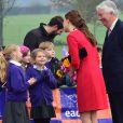 Kate Middleton, duchesse de Cambridge, enceinte de quatre mois, se mobilisait le 25 novembre 2014 à Norwich, dans le Norfolk, pour lancer une levée de fonds en vue de construire un nouvel hôpital pour enfants de l'organisme East Anglia Children's Hospices.