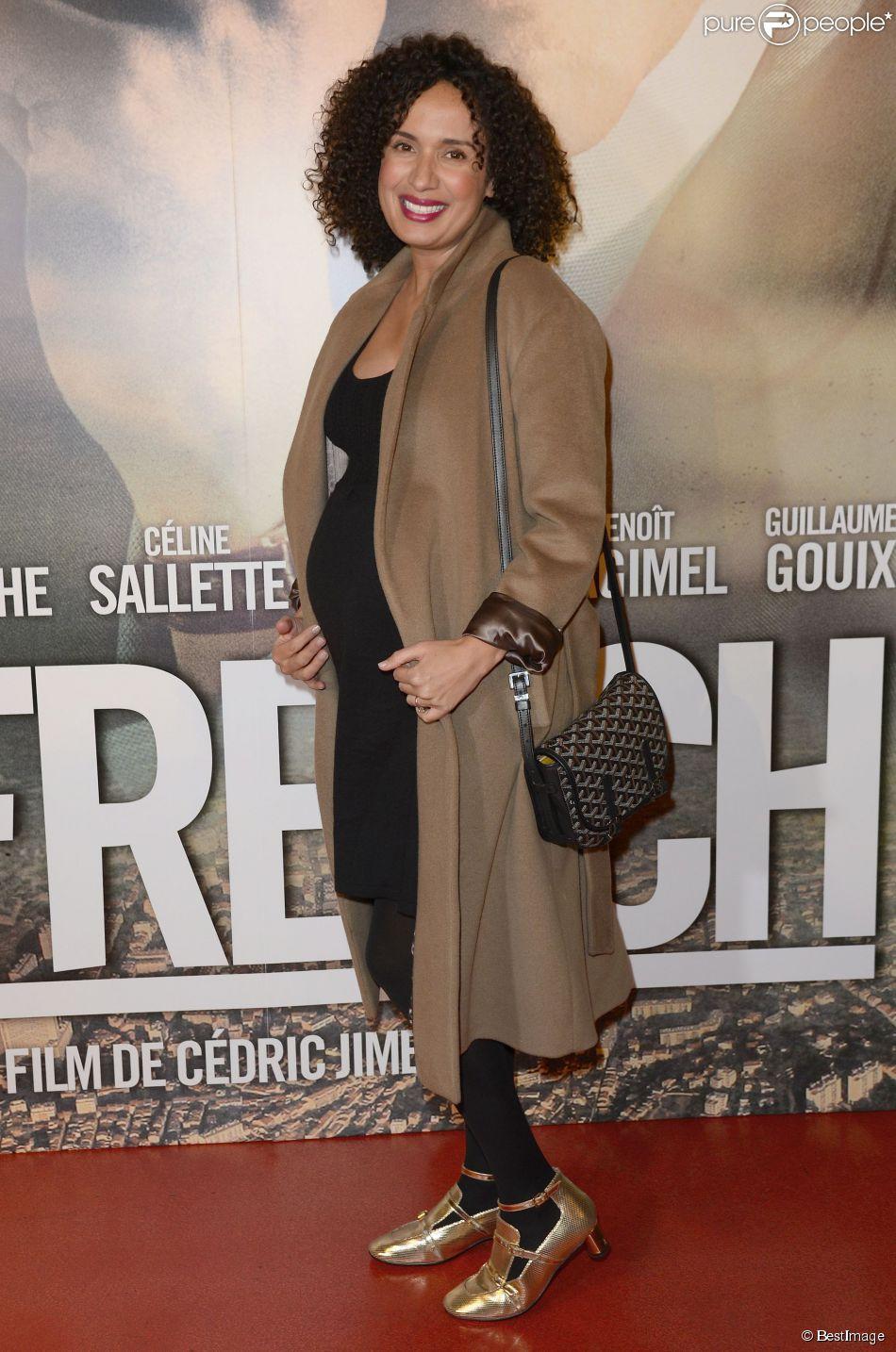 """Amelle Chahbi enceinte - Avant-première du film """"La French"""" au cinéma Gaumont Opéra à Paris, le 25 novembre 2014."""