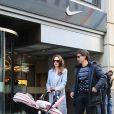 Tamara Ecclestone avec son époux Jay Rutland et leur petite Sophia à New York, le 20 novembre 2014