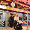Tamara Ecclestone et son mari Jay Rutland accompagnée de leur fille Sophia du côté de Central Park à New York le 19 novembre 2014