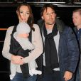 Please Hide The Child's Face Prior To The Publication - Tamara Ecclestone with husband Jay Rutland and their daughter Sophia are checking into their Hotel, New York City, NY, USA on November 18, 2014. Photo by Morgan Dessalles/ABACAPRESS.COM19/11/2014 - New York City