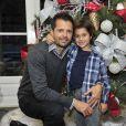 Brooke Burke-Charvet and husband David Charvet along with their children Rain, Neriah, Sierra and Shaya at a holiday party in Malibu, Los Angeles, CA, USA on December 1, 2014Michael Simon/Startraks/ABACAPRESS.COM04/12/2014 - Los Angeles
