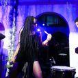 Zoë Kravitz et son groupe Lolawolf animent la soirée d'inauguration du nouveau magasin Chrome Hearts, situé dans le Design District. Miami, le 3 décembre 2014.