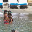 Exclusif - Heidi Klum et ses enfants Leni, Henry, Johan et Lou en vacances à la Jamaïque. Le 23 novembre 2014.