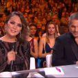 Valérie Bègue et Philippe Bas, lors de la cérémonie de Miss France 2015 sur TF1, le samedi 6 décembre 2014.