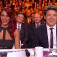 Shy'm et Patrick Bruel lors de la cérémonie de Miss France 2015 sur TF1, le samedi 6 décembre 2014.