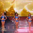 Les 5 Miss finalistes, lors de la cérémonie de Miss France 2015 sur TF1, le samedi 6 décembre 2014.