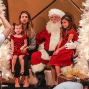 Jessica Alba avec ses filles et le Père Noël : Honor adorable et Haven en larmes