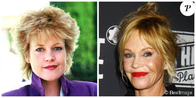 Melanie Griffith à Cannes en mai 1987 et à New York en novembre 2014. ©BESTIMAGE
