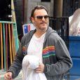 Exclusif - Joaquin Phoenix à la sortie de son cours de karaté à Los Angeles, le 30 novembre 2014.
