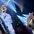 Jessie J et Ariana Grande prestent lors du Jingle Ball de la station Hot 99.5 au Verizon Center. Washington, le 15 décembre 2014.