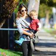 Exclusif - Alessandra Ambrosio et son fils Noah à Brentwood. Le 12 décembre 2014.