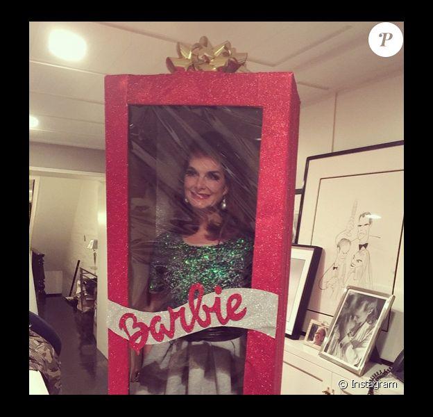 Brooke Shields, une poupée Barbie rien réelle, le 16 décembre 2014.