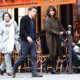 Olivier Martinez, sa femme Halle Berry et leur fils Maceo à Paris, le 20 décembre 2014.