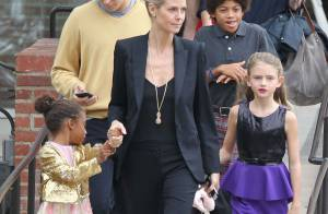 Heidi Klum : Maman chic avec ses quatre enfants et son chéri Vito Schnabel