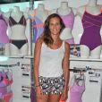 Laure Manaudou présente sa collection de maillots de bain 'Laure Manaudou Design' lors d'un défilé à la Piscine de Boulogne-Billancourt le 2 Juillet 2014.