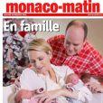 Charlene et Albert de Monaco dévoilent les premières photos de leurs jumeaux, le 23 décembre 2014