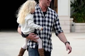 Eric Dane : Shopping de dernière minute avec ses filles Billie et Georgia