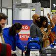 Exclusif - Solange Knowles et Alan Ferguson arrivent à l'aéroport pour prendre l'avion à Miami et poursuivre leur lune de miel. Le 21 novembre 2014