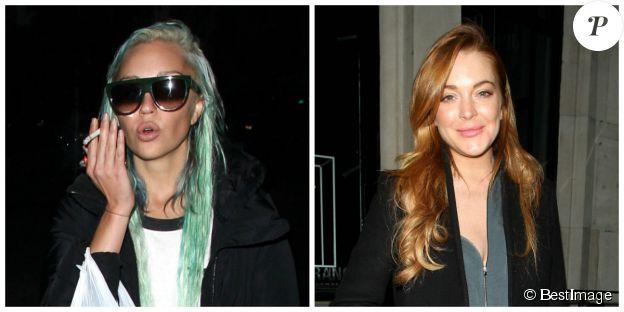 Montage d'images de Lindsay Lohan et Amanda Bynes en 2014. ©Bestimage