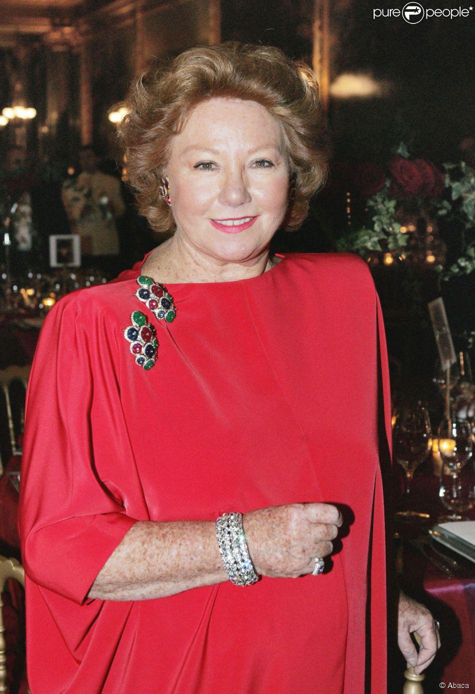 La baronne Nadine de Rothschild à Versailles, le 23 mars 2005.