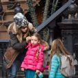 Sarah Jessica Parker et ses filles Marion Loretta et Tabitha Hodge à New York, le 18 décembre 2014