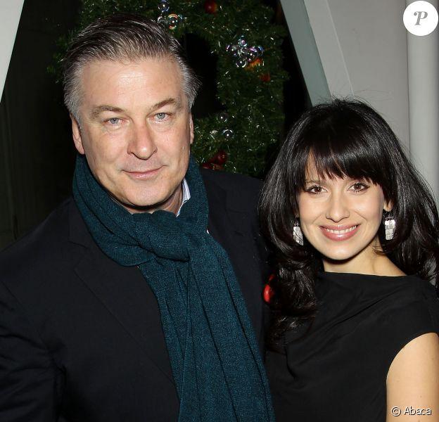 Alec Baldwin et Hilaria à New York, le 11 décembre 2014.