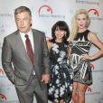 Alec Baldwin, Hilaria Baldwin et Ireland Baldwin à New York, le 29 janvier 2014.