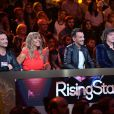 "David Hallyday, Cathy Guetta, Morgan Serrano, Cali -   Troisième prime de ""Rising Star"" sur M6. Jeudi 9 octobre 2014."