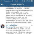 Yann M'Vila s'en prend à des internautes qui draguent sa femme Shanika sur Instagram le 4 janvier 2014.