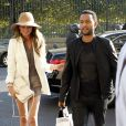John Legend et sa femme Chrissy Teigen font du shopping à Paris le 10 septembre 2014.