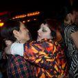 Beth Ditto et sa fiancée Kristin Otaga à l'after-show du concert de son groupe Gossip à Paris, le 7 novembre 2012.