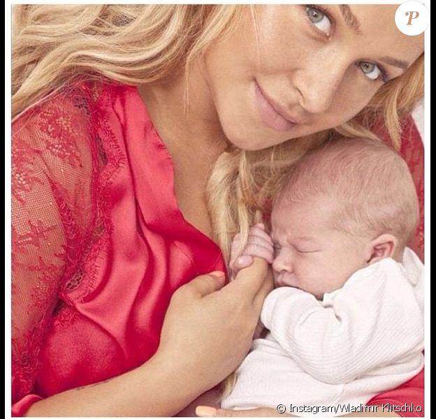 Hayden Panettiere et sa fille Kaya - photo publiée sur le compte Instagram de Wladimir Klitschko le 7 janvier 2015
