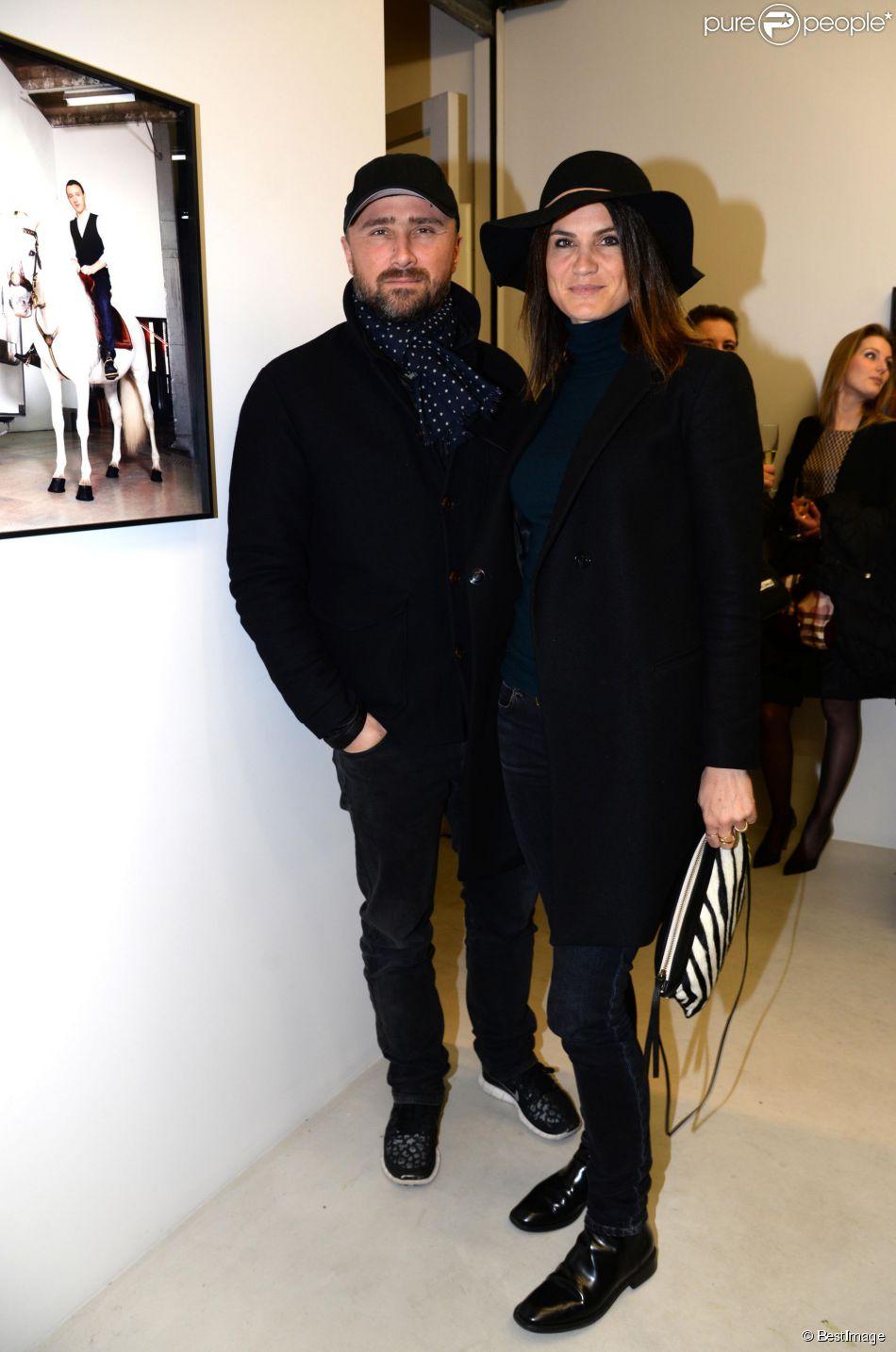Exclusif alexandre brasseur et sa femme juliette vernissage de l 39 exposition photo de vincent - Alexandre jardin et sa femme ...