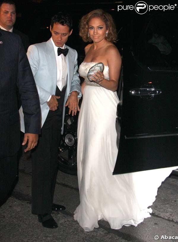 L'arrivée de Jennifer Lopez et Marc Anthony lors l'anniversaire de Marc